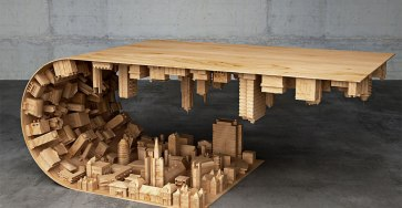 Creative Artwork  Wave City Coffee Table By Stelios Mausaris 02