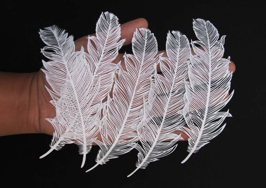Incredible Paper Cut Art from One Sheet of Paper