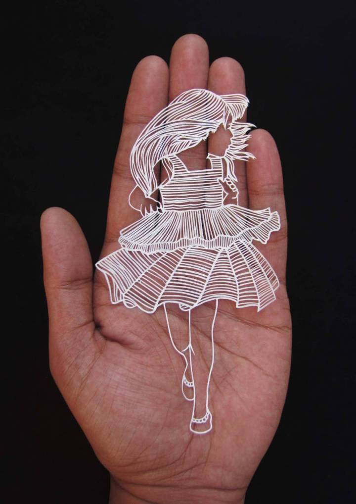 Incredible Paper Cut Art from One Sheet of Paper by Parth Kothekar 02