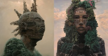Portraits of Chinese Rockstars Turned into Monumental Temples
