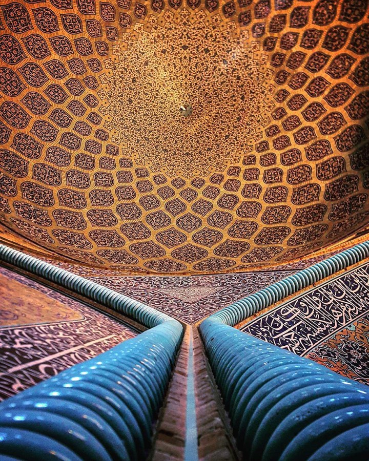 The Hypnotizing Beauty Of Iranian Mosque Ceilings 14