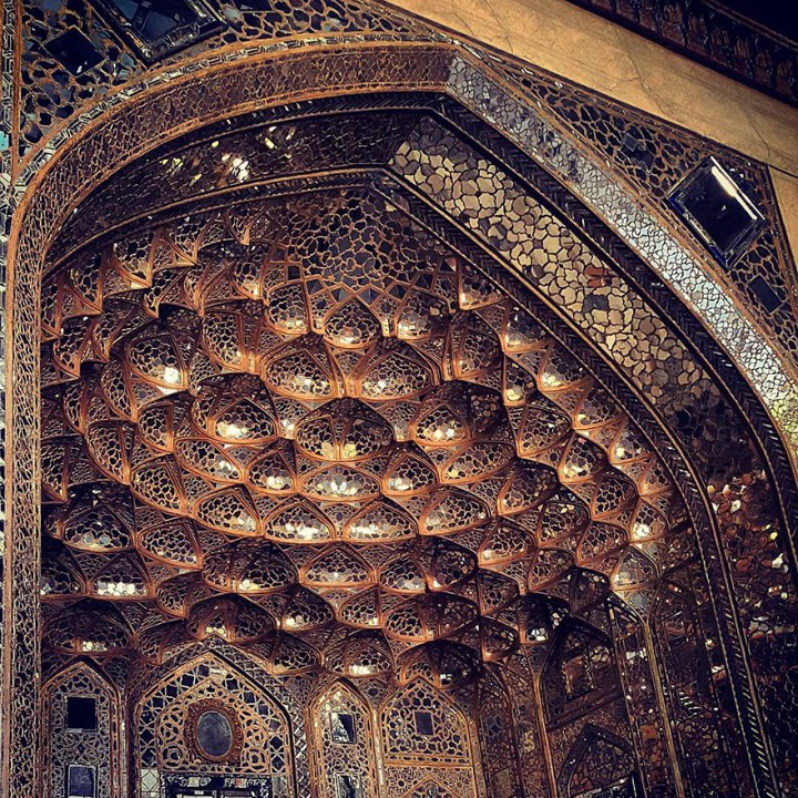 The Hypnotizing Beauty Of Iranian Mosque Ceilings 7