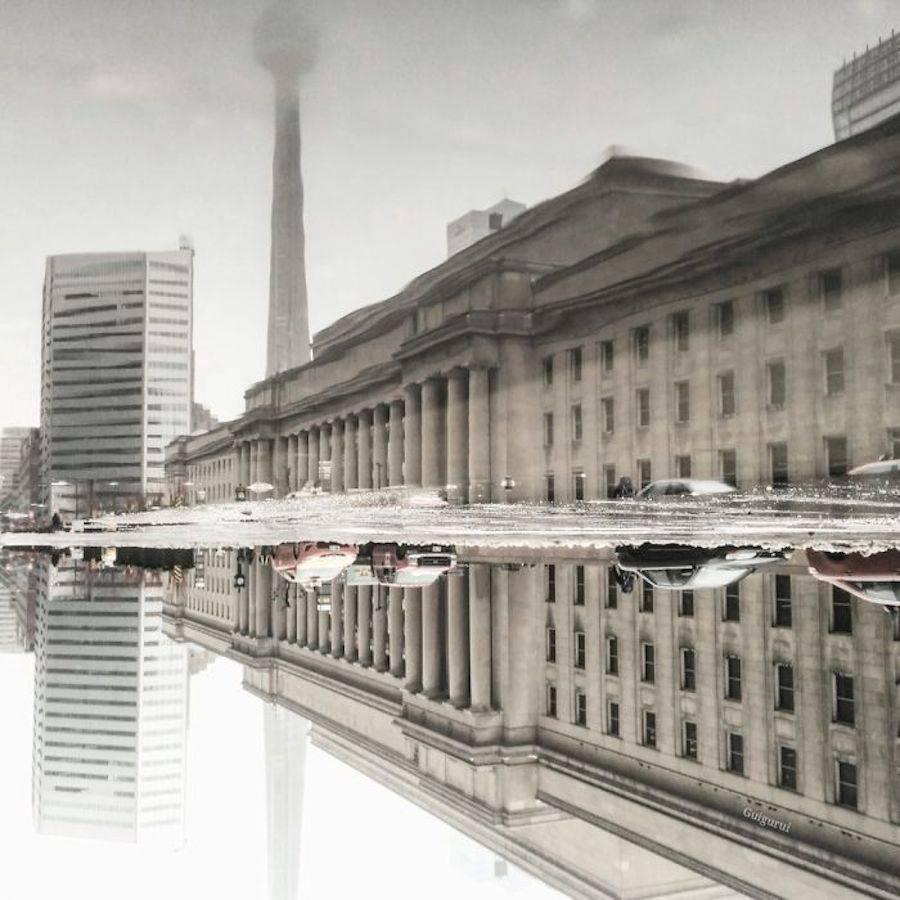 Unique Photography Concept of City Rain Reflections by Guido Gutiérrez Ruiz 03