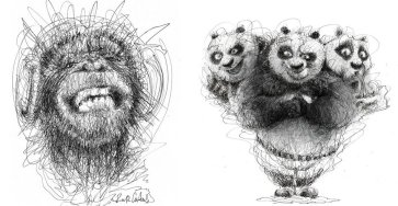 Wonderful Art with Pen Stroke Drawings by Erick Centeno