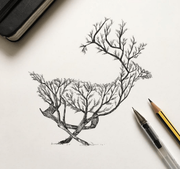 Awesome Sketches Pen Drawings by Alfred Basha 01