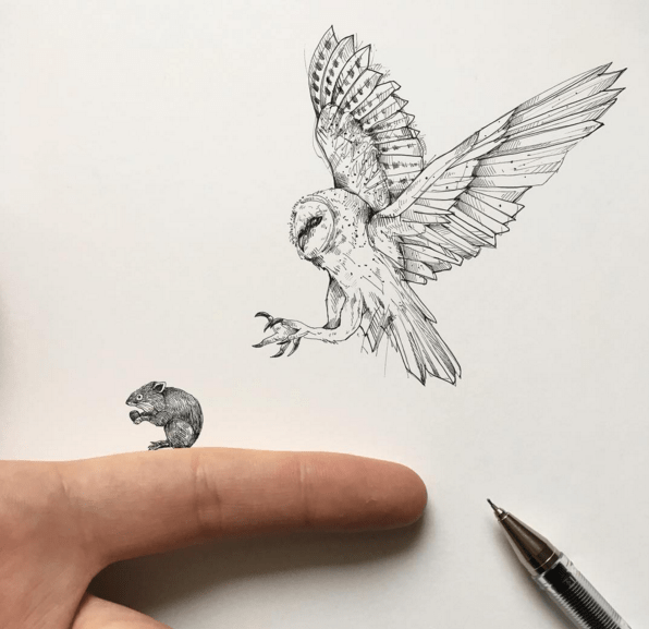 Awesome Sketches Pen Drawings by Alfred Basha 06