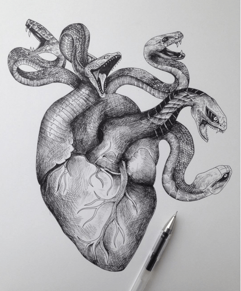 Creative Sketches Pen Drawings by Alfred Basha 04