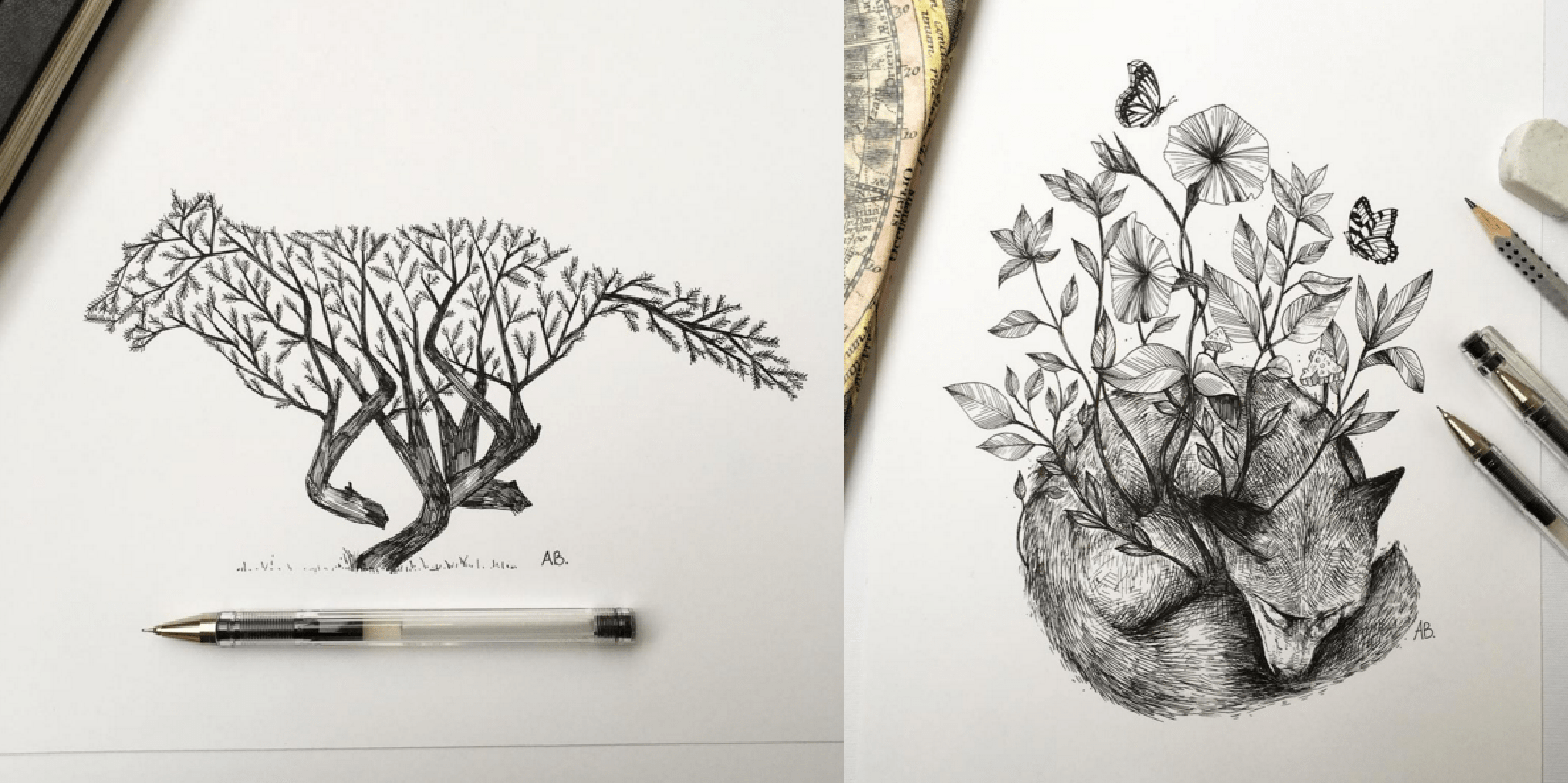 Awesome Sketches Pen Drawings by Alfred Basha