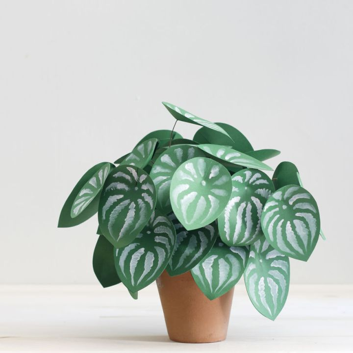 Creative Idea, Create Green Room With Plants From Paper 77