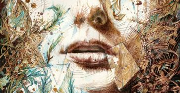 Creative Paintings Using Ink, Tea, Alcohol, And Embroidery