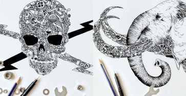 Stunning Doodles with Steampunk Twist by kin ka