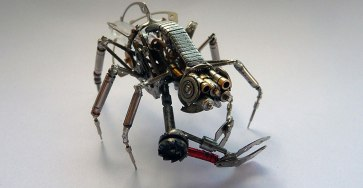 Spine-Chilling Insects And Spiders From Recycled Watch Parts