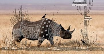 Animal Doodles : Elegant Tribal Design Over Animal Photographs