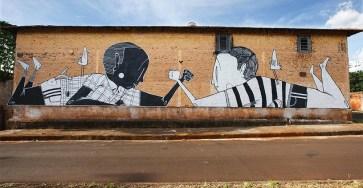 Creative Black and White Street Art by Alex Senna
