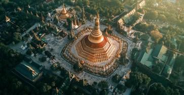 Beautiful Aerial Photographs Of Myanmar Temples