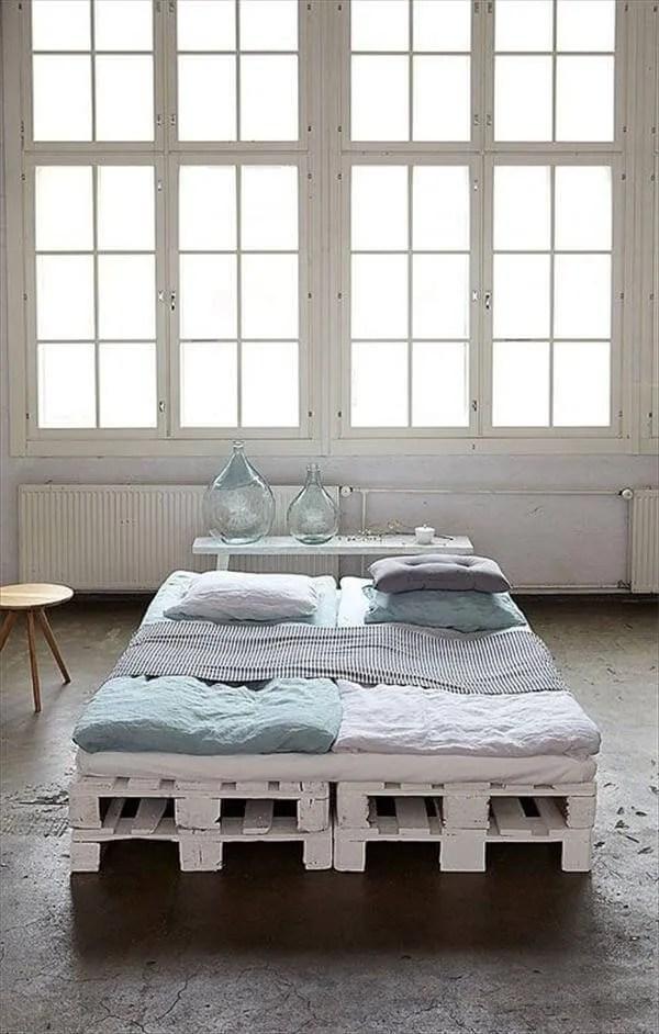 9 DIY Easy Wooden Pallet Bed Ideas   99 Pallets on Bedroom Pallet Ideas  id=62256