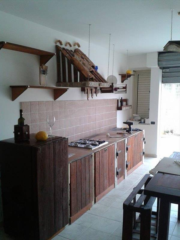 Kitchen Cabinets From Pallets cabinets made from wood pallets | nrtradiant