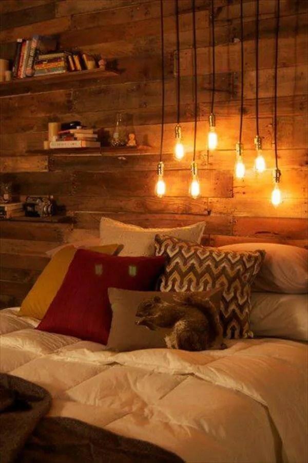 DIY Pallet Bedroom Project Tutorial | 99 Pallets on Pallet Bedroom  id=14470