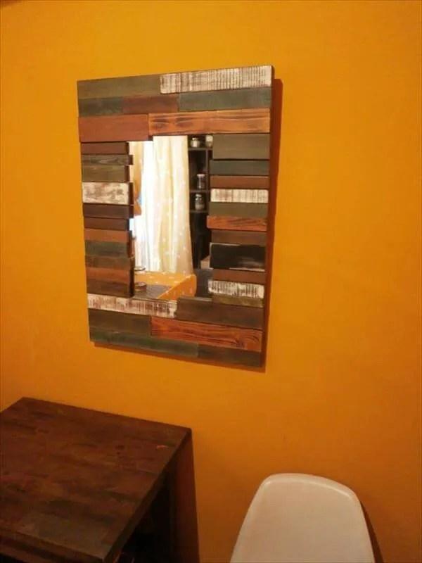 DIY Pallet Wall Mirror Ideas 99 Pallets