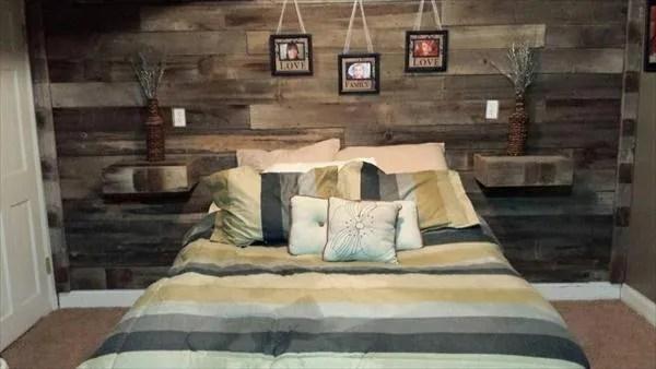 DIY Pallet Wall Paneling - Pallet Bedroom Walls | 99 Pallets on Pallet Bedroom  id=22262