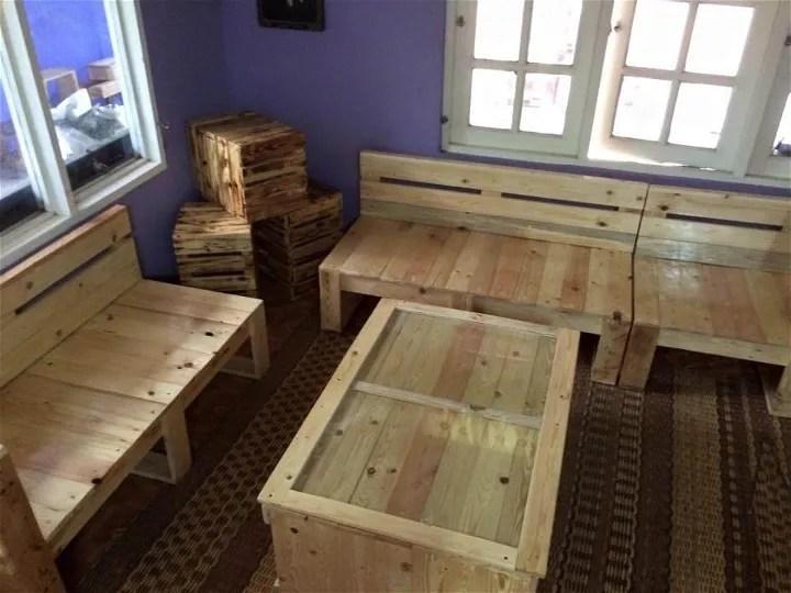 Pallet Living Room Furniture Set | 99 Pallets on Pallet Room  id=24240