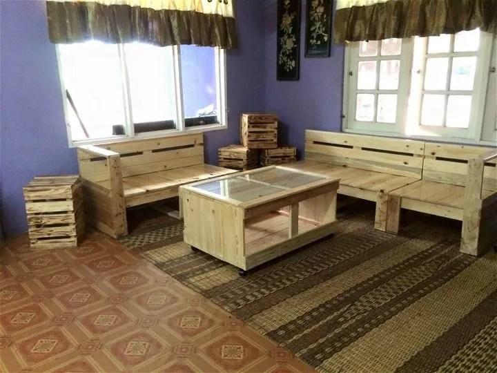 Pallet Living Room Furniture Set | 99 Pallets on Pallet Room  id=31322
