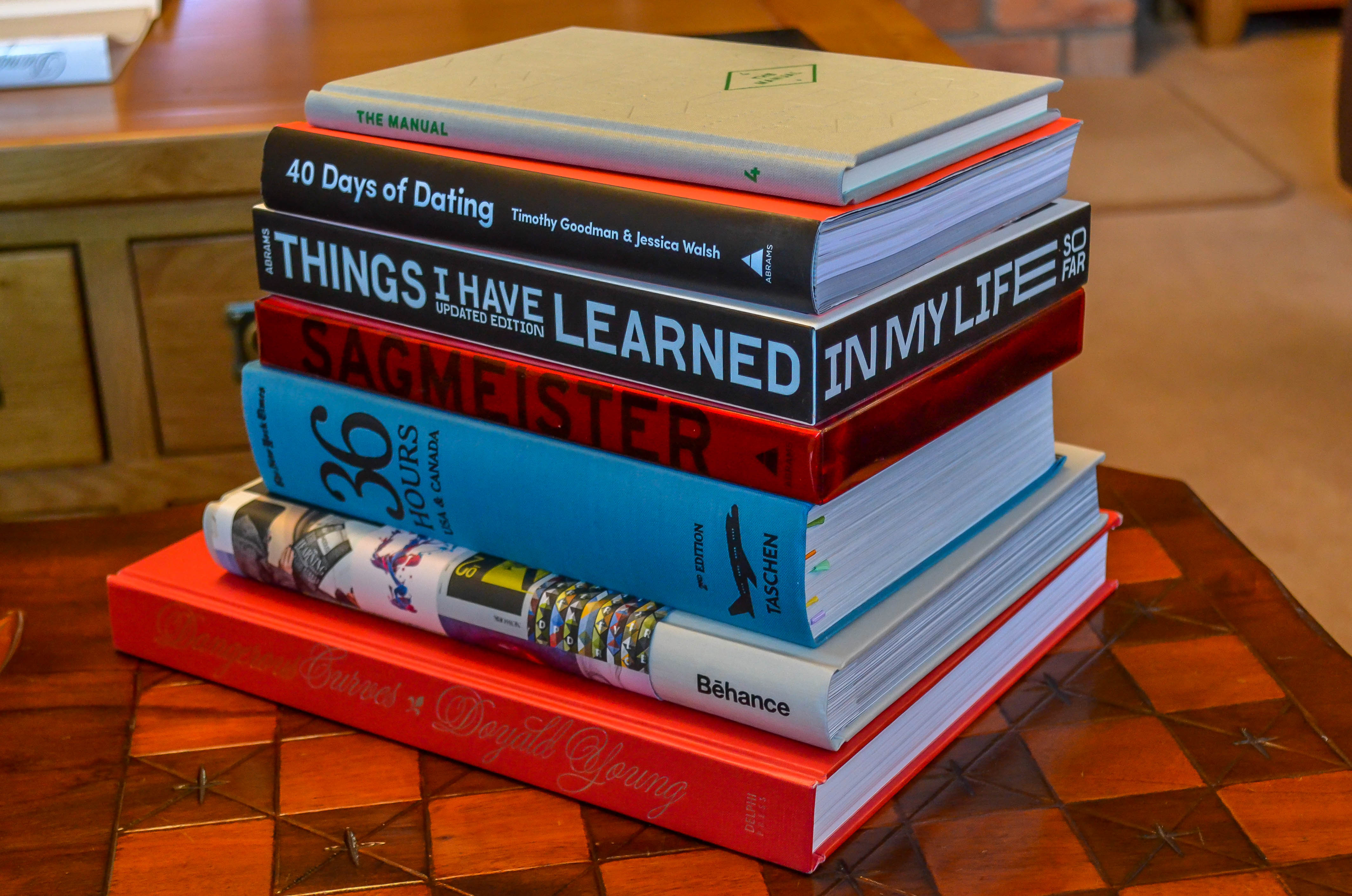Good Coffee Table Books Best Coffee Table Books For Designers Featuring Behance Sagmeister