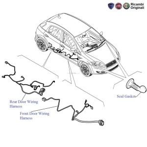 FIAT Punto: Doors Wiring Harness