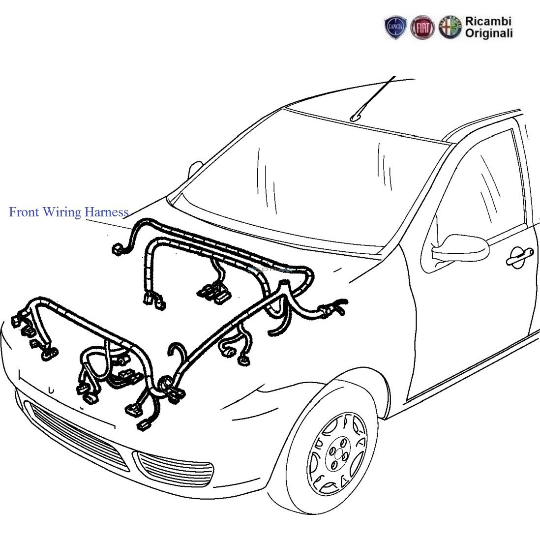 Fiat Palio Stile 1 1 Petrol Front Wiring Harness