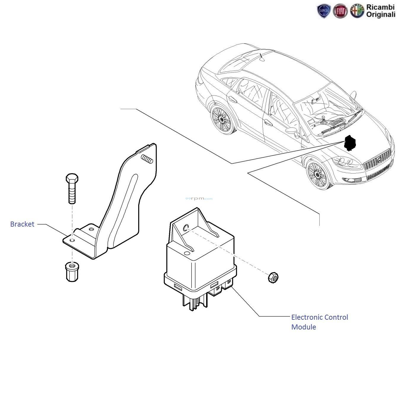 Fiat Linea 1 3 Mjdsel Electronic Control Module Ecm