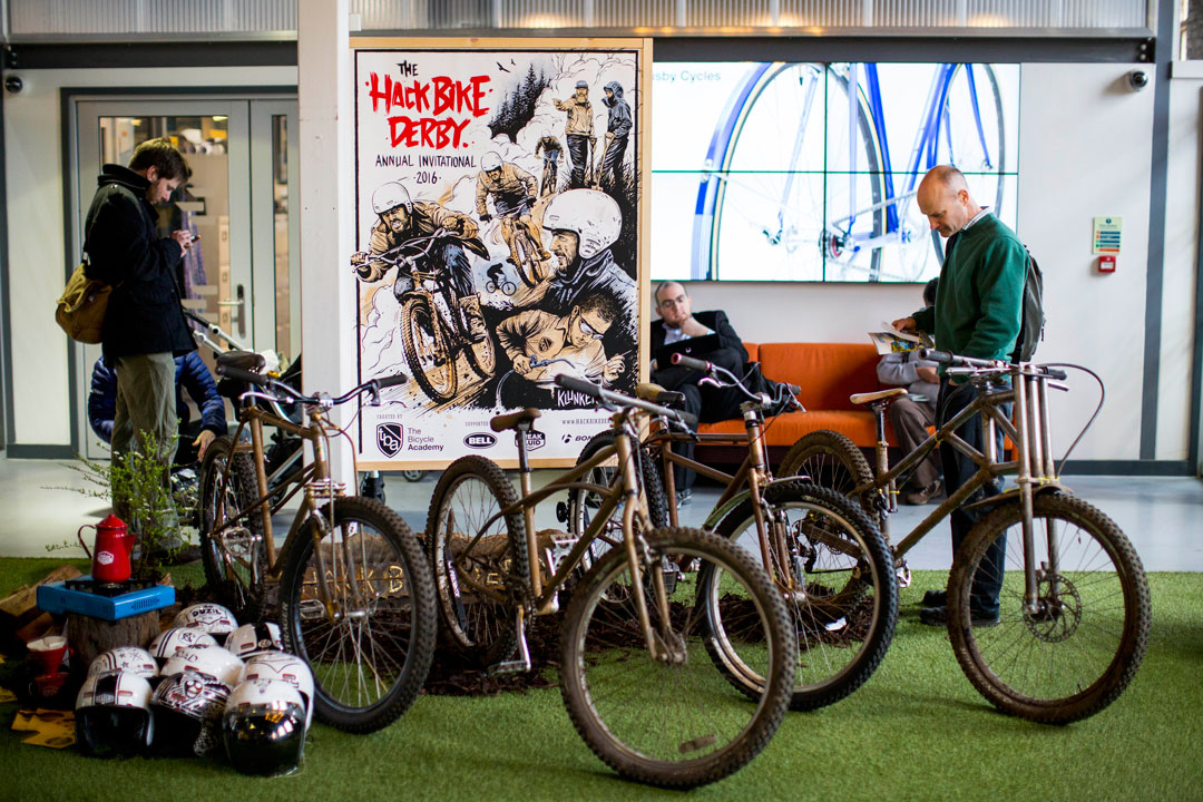 The Hack Bike display at Bespoked