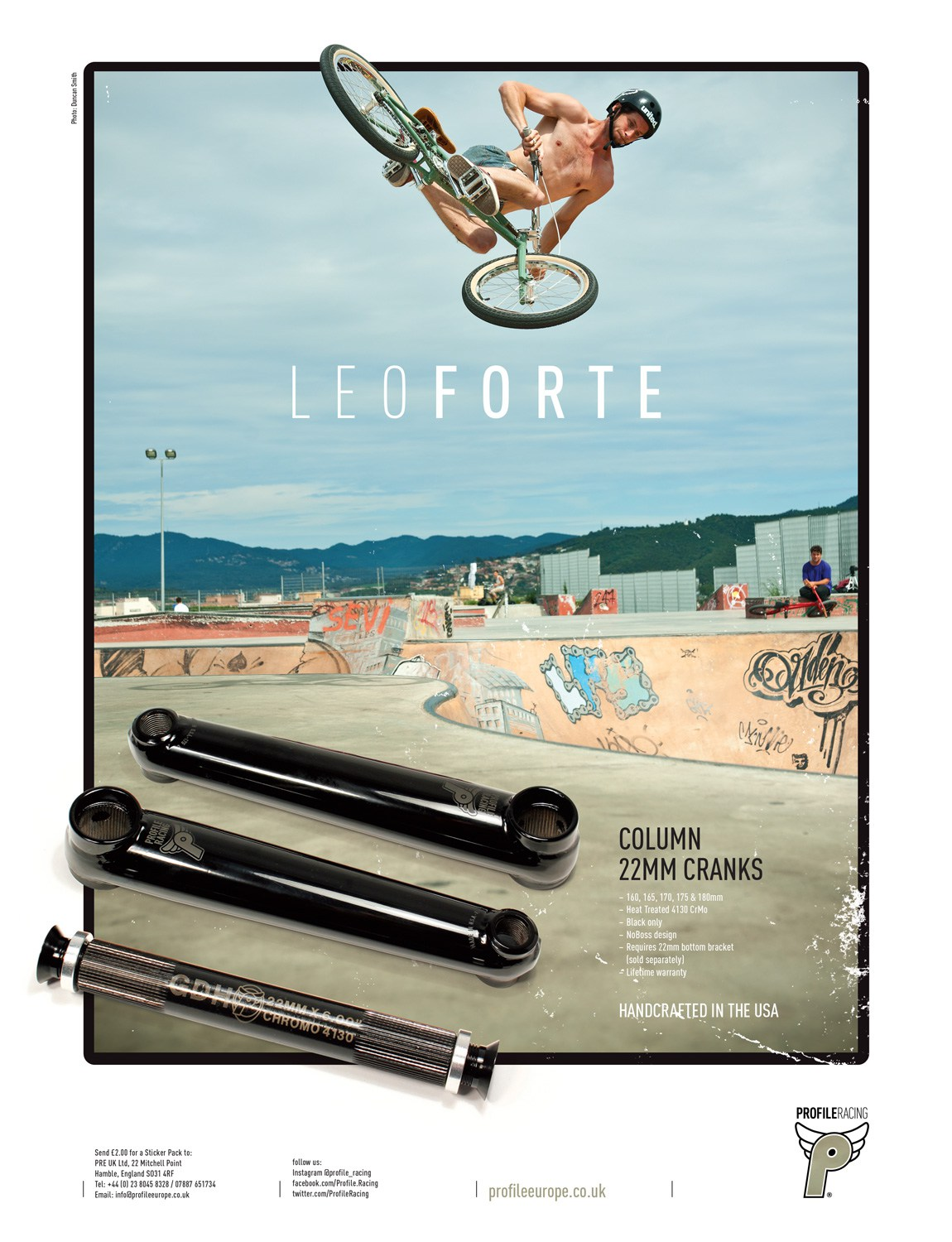 Profile - Leo Forte - Photo by Duncan Smith, Ride UK