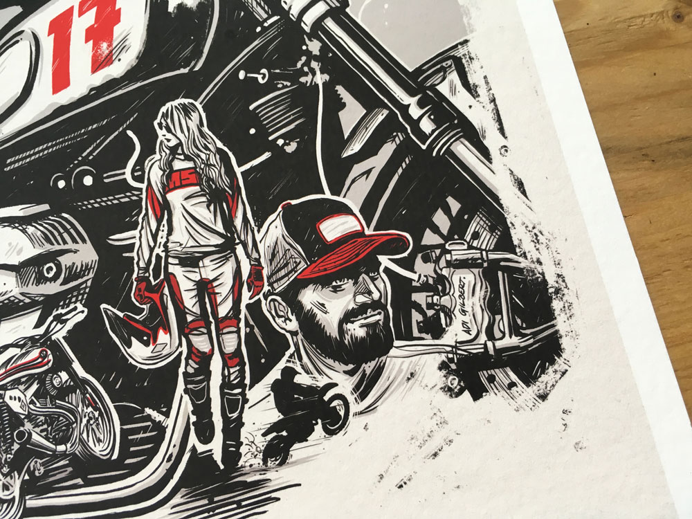Helmet and Apparel print by Adi Gilbert