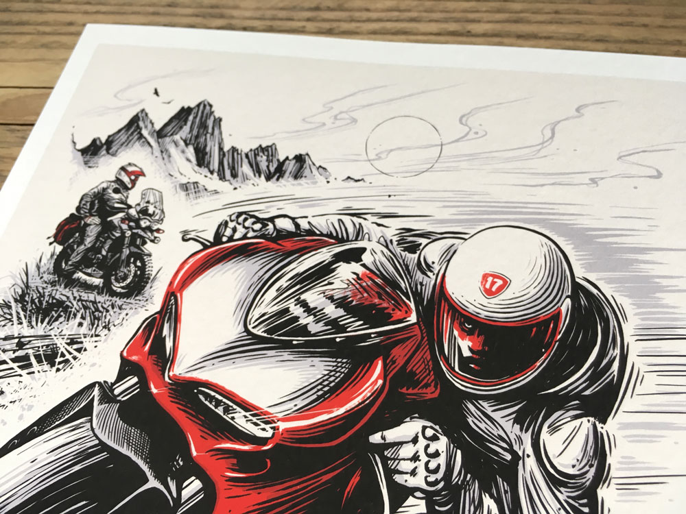 Street Bike Print By Adi Gilbert