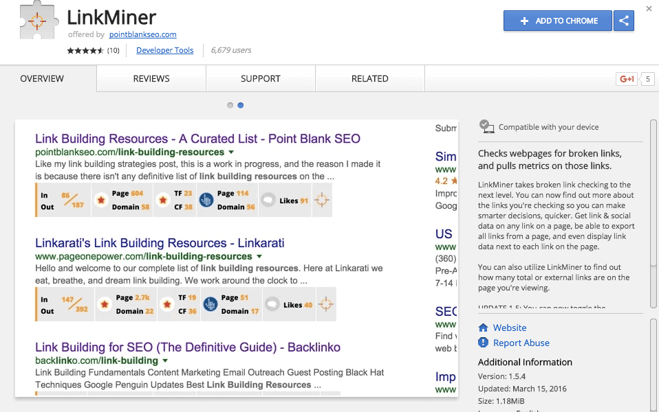 12 of the Best Chrome Extensions for SEO - LinkMiner