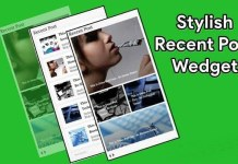 stylish recent post widget for website