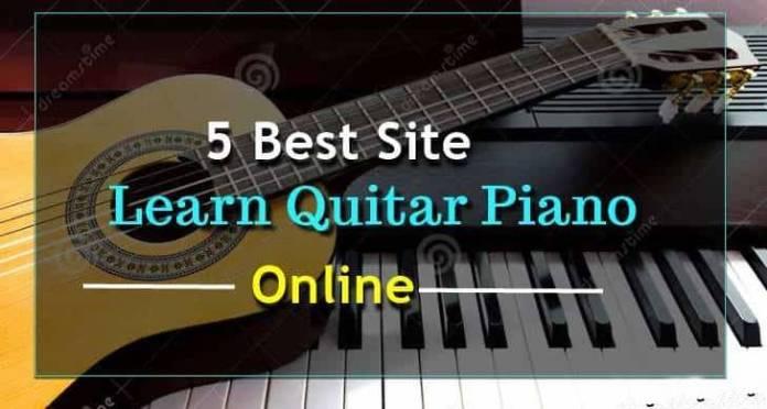 Guitar piano website