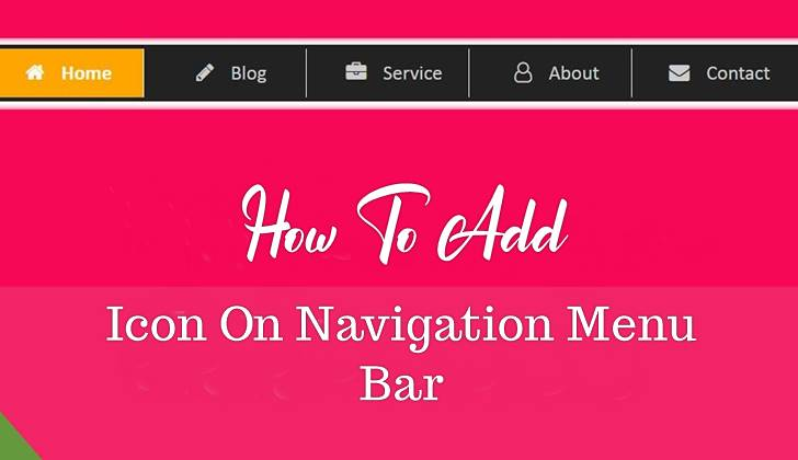 How To Add Icon On Website Navigation Menu Bar