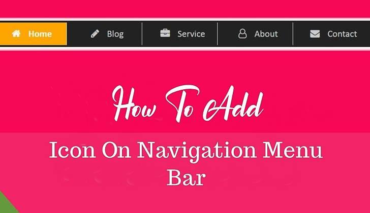add icon on categories menu bar