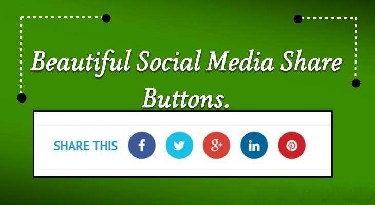 Stylish Social Share Button For Blog Website