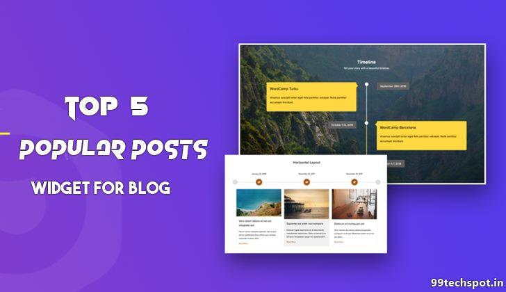 Top 5 Stylish Popular Post Widgets For Website