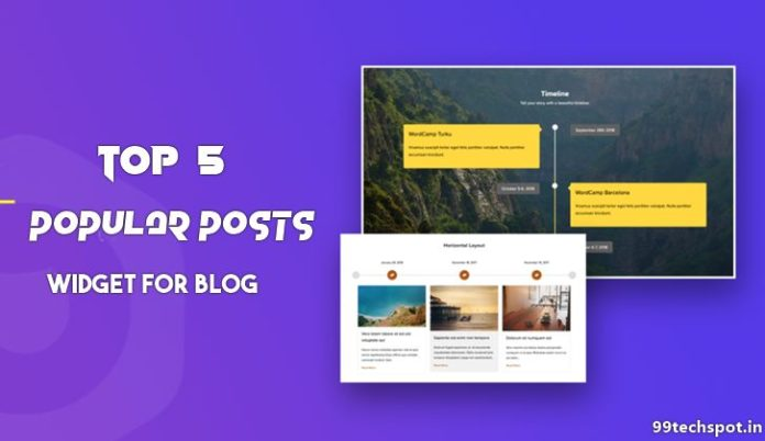 popular post widget for website