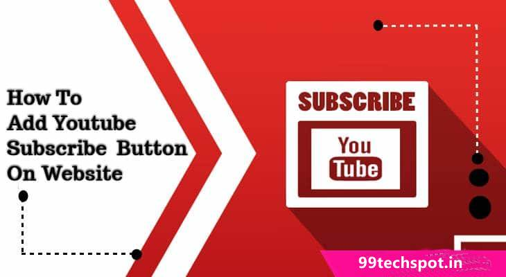 How To Youtube Subscribe Button On Website