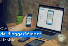 hide or show blogger widget