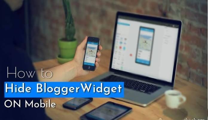 hide or show blogger widget