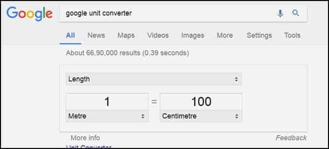 Google unit checker