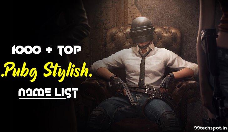 1000+Latest Pubg Stylish Name List