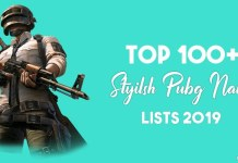 pubg stylish name list