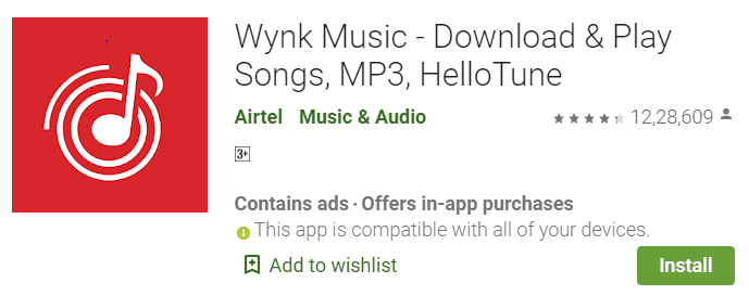 wynk Music hello tune