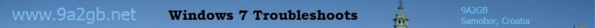 Windows 7 Troubleshoots
